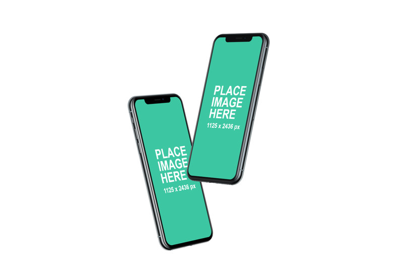 Two iPhone X mockups