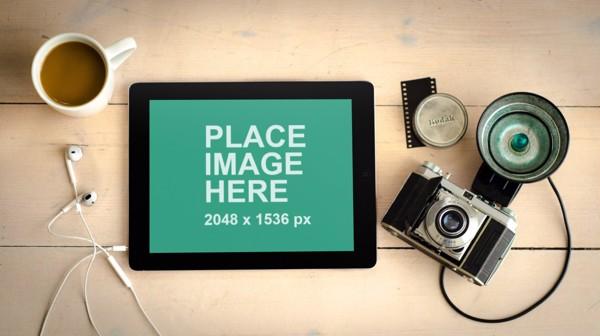 iPad with camera