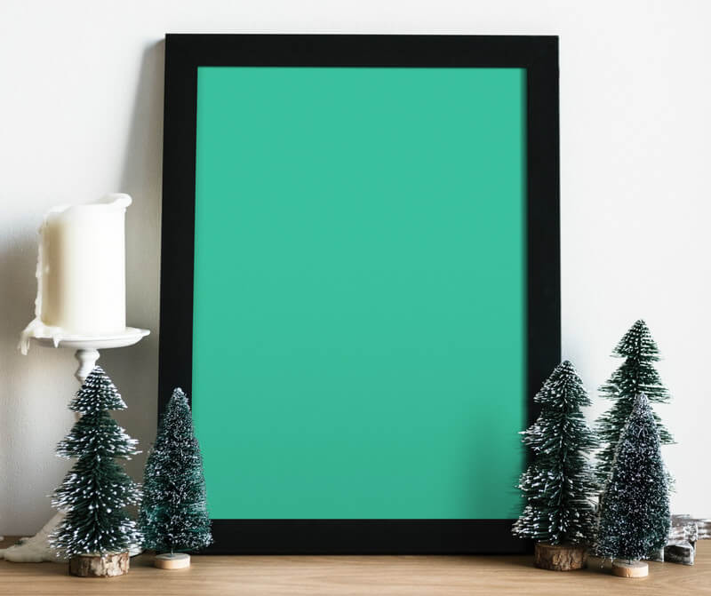 Black wooden xmas frame