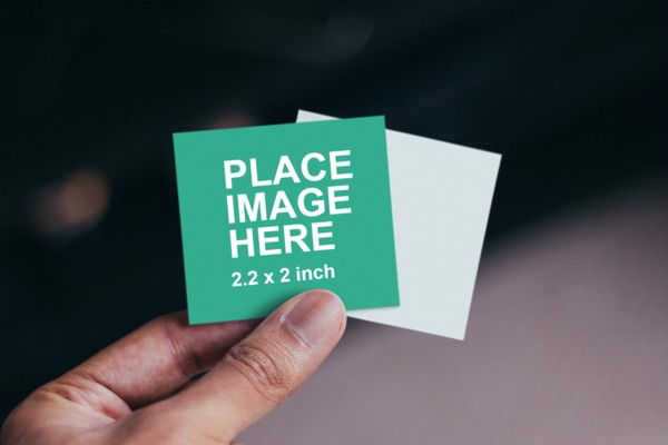 Small paper mockup