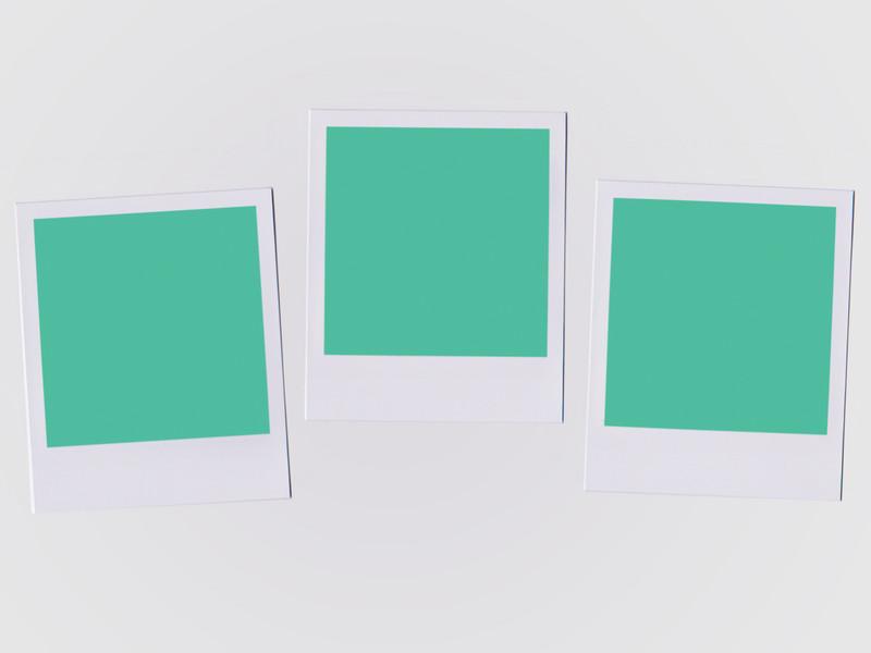 3 instant photos