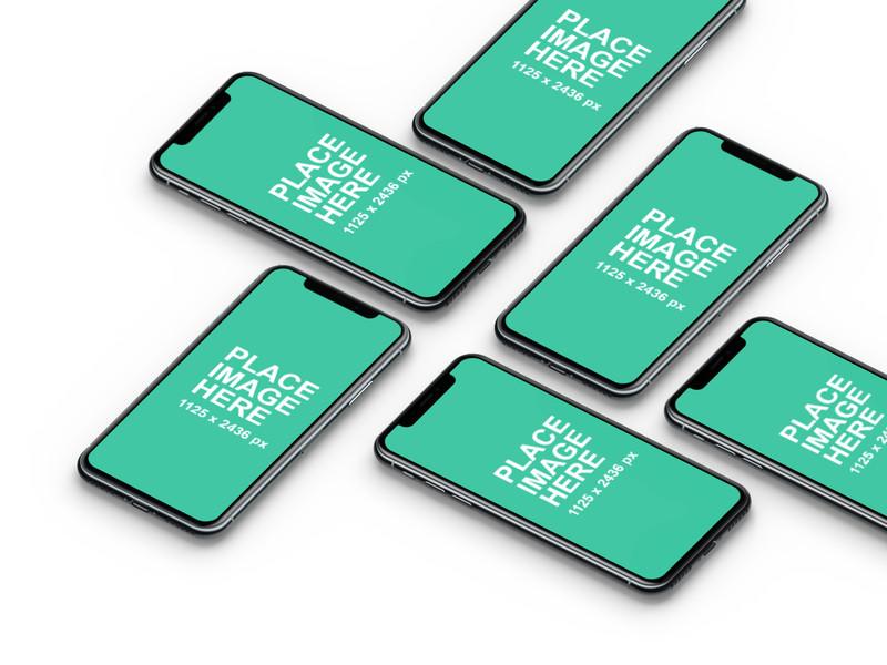 6 iPhone X mockups