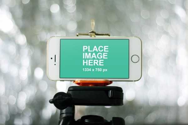 iPhone 6 in landscape mode