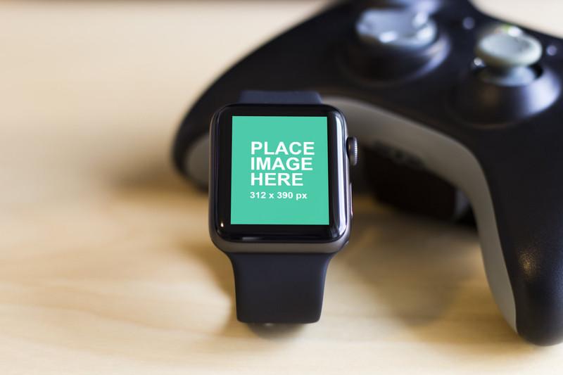 Apple Watch 3 mockup closeup