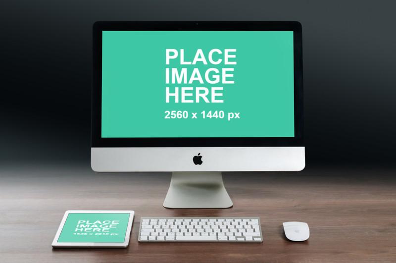 iMac and iPad on desk