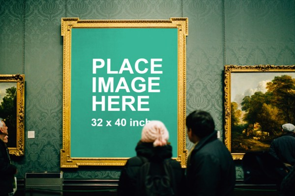 Large art frame mockup