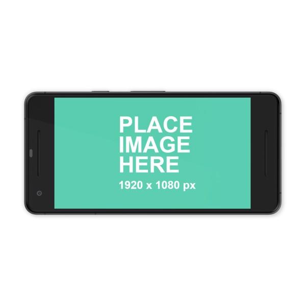 Black Google Pixel 2 in landscape