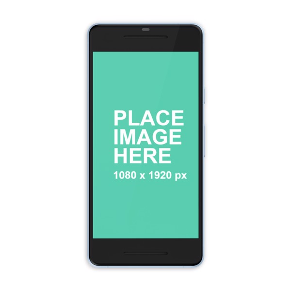 Blue Google Pixel 2 mockup