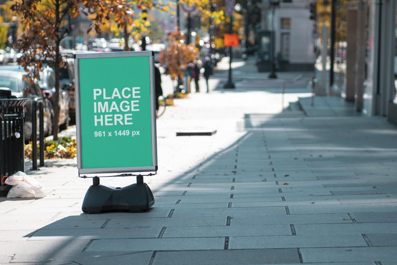 City Street Sign Mockup