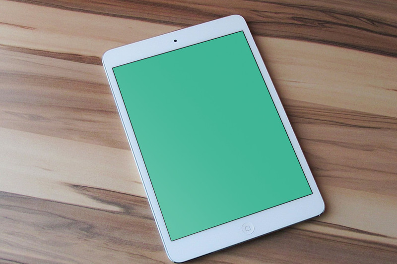 Closeup of iPad