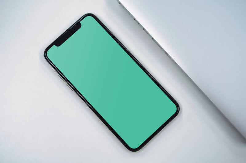 Closeup of iPhone X