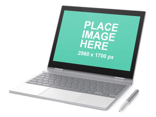 Google Pixelbook left faced
