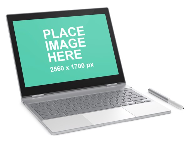 Google Pixelbook right faced
