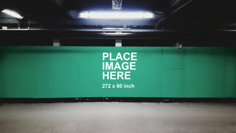 Huge wall billboard