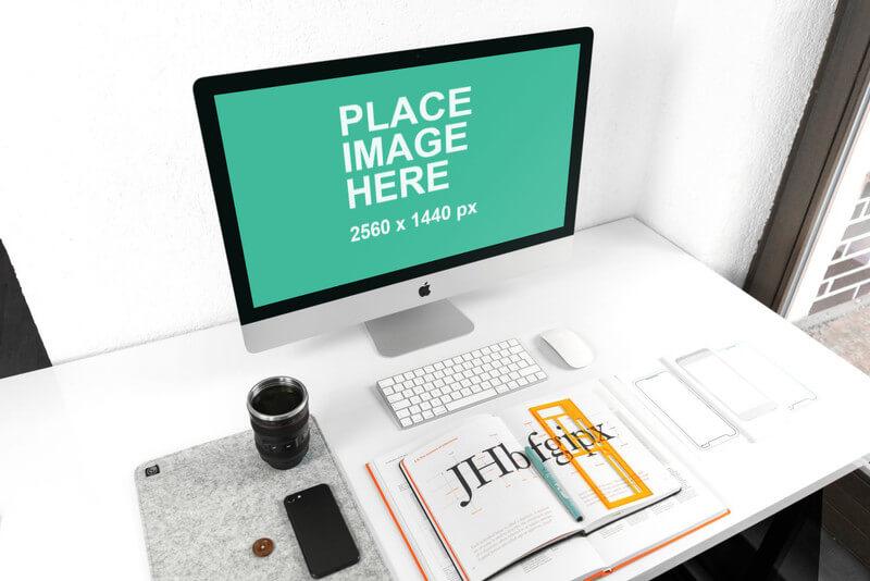 iMac on designers desk