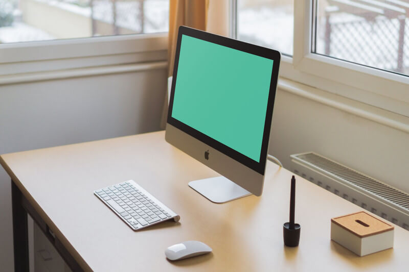 iMac on office desk