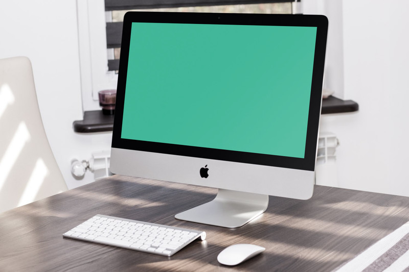 iMac on table