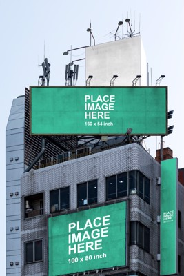 3 large billboards