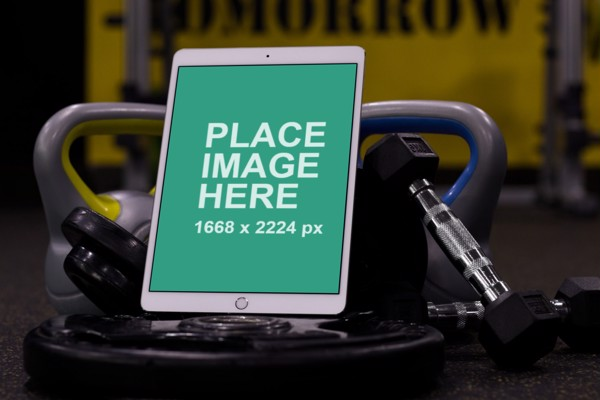 iPad Pro in gym