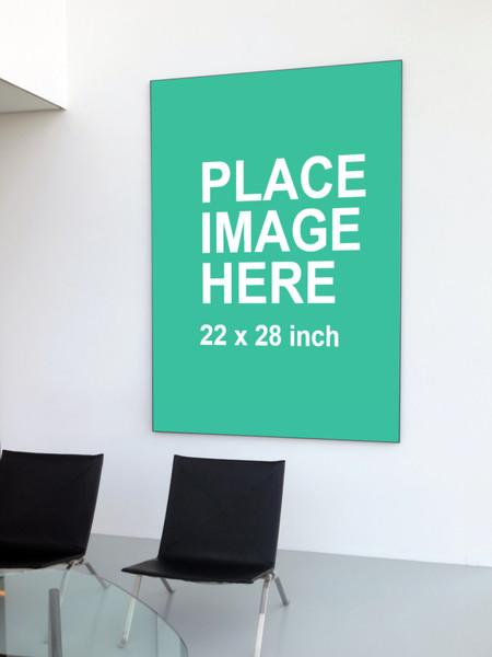 Huge frame on white wall