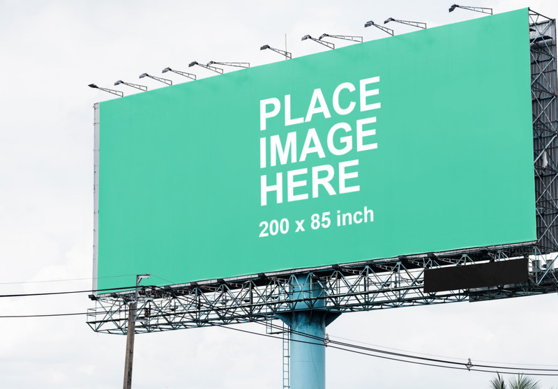 Large billboard outside