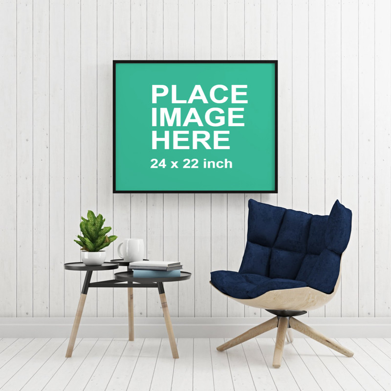 Large frame on white wall