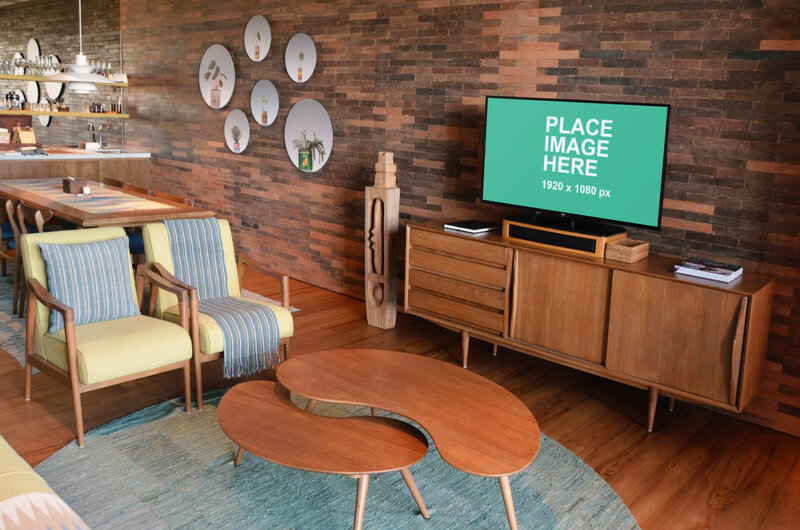 TV in living room