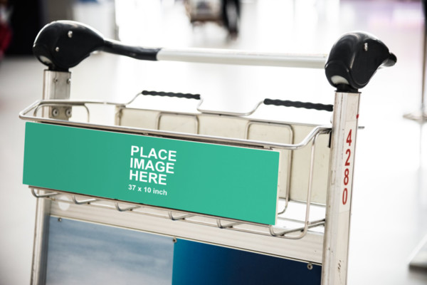 Long sign on trolley