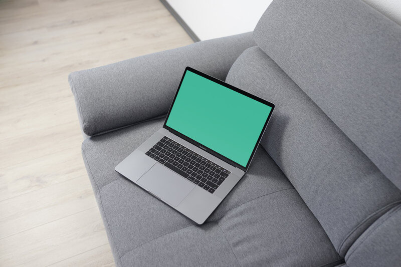 MacBook Pro on sofa