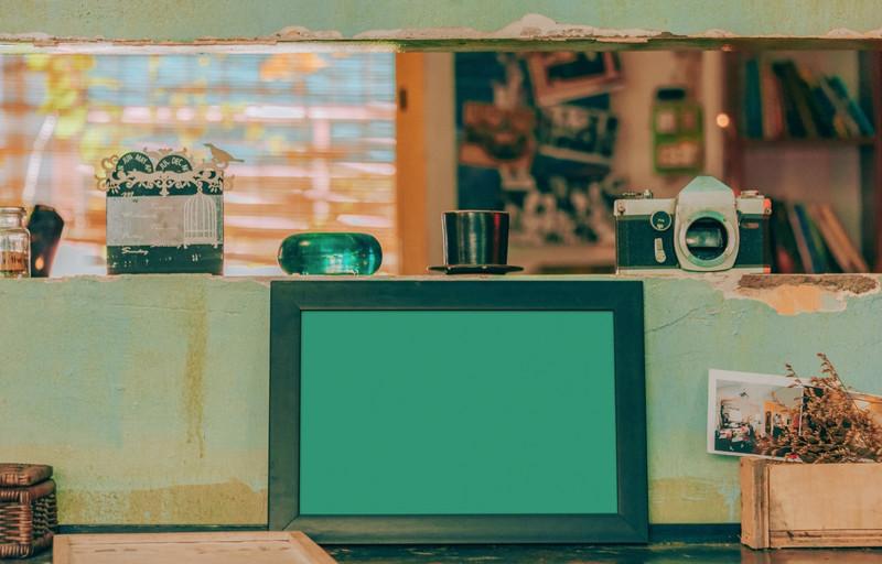 Old green frame
