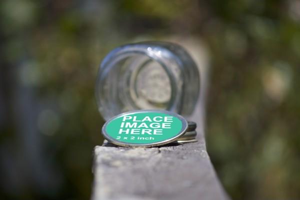 Outdoor Jar Lid Mockup