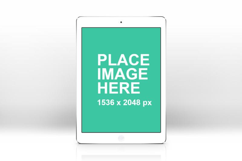 Simple iPad Air white portrait