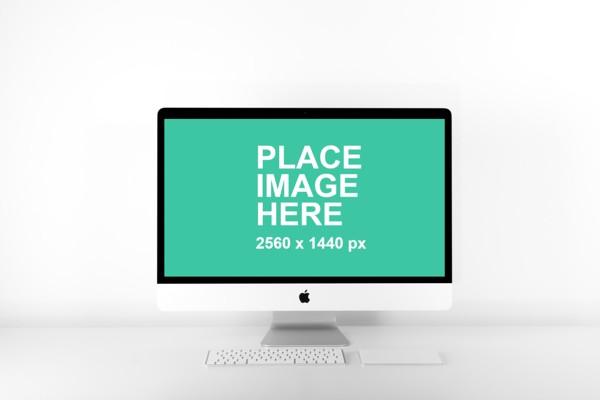 Clean iMac mockup