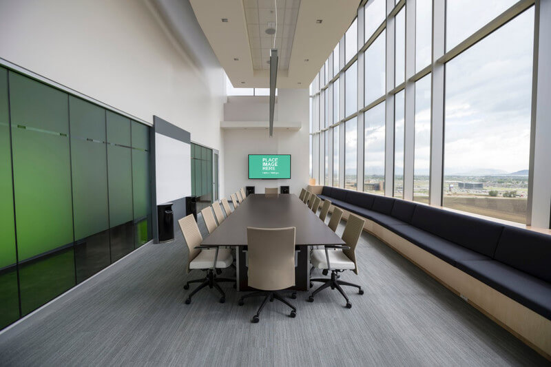 TV in high-rise meeting room
