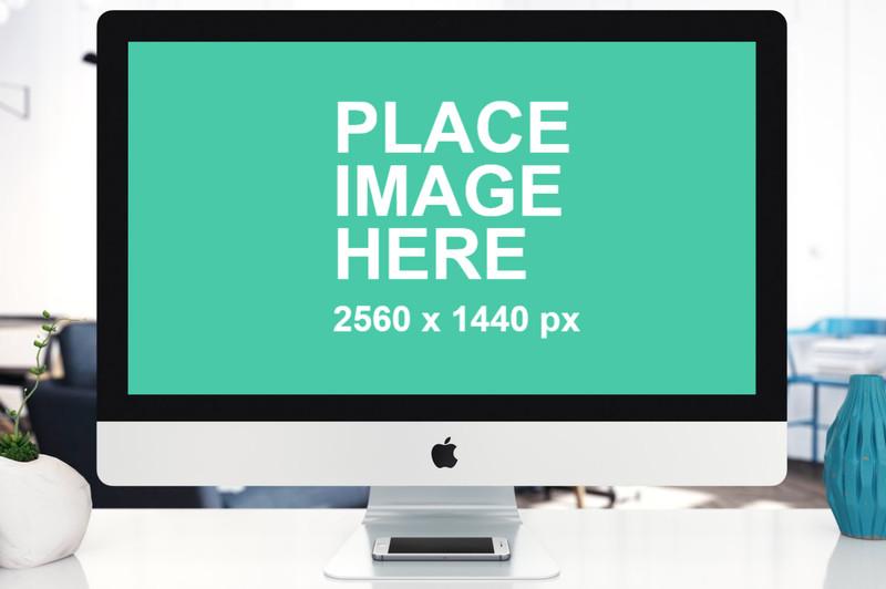Closeup view of iMac