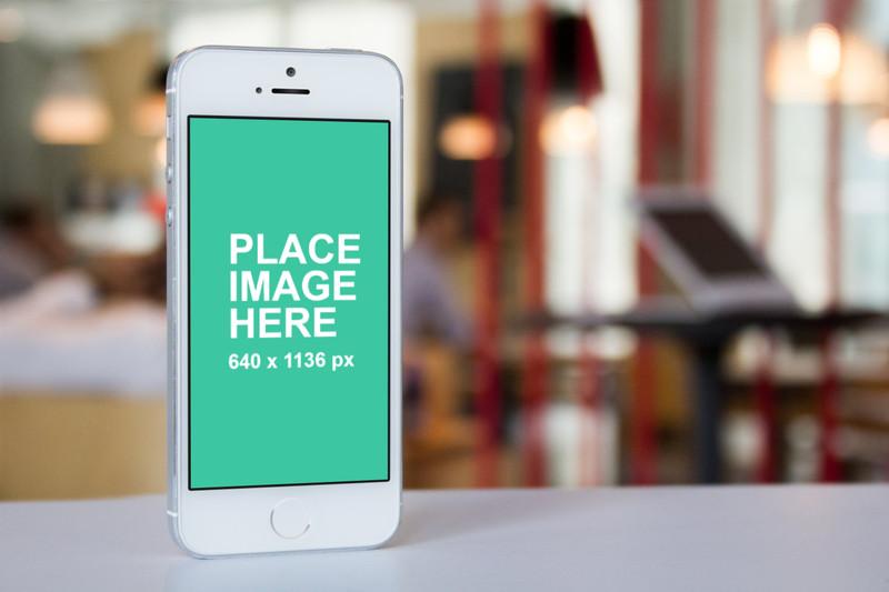 White iPhone 5 gym background