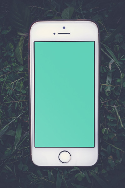 White iPhone on grass